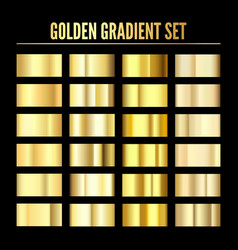 golden metal realistic gradient collection of vector image