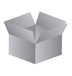 gray box opened icon vector image
