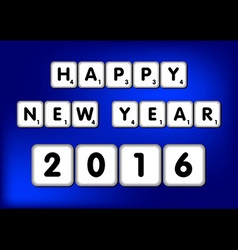 Happy New Year 2016 Scrabble vector