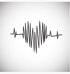 heart rate on white background vector image