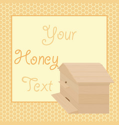 Honey background with beehive vector