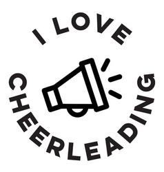 I love cheerleading black and white vector