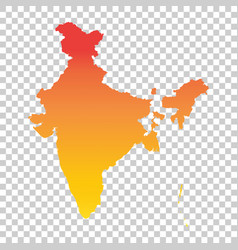 India map colorful orange vector