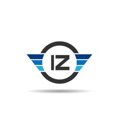 Initial letter iz logo template design vector