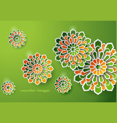 Islamic background ramadan kareem vector
