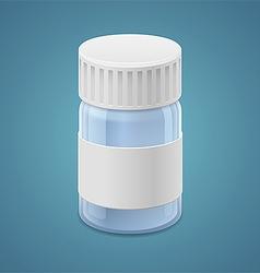 Jar for tablets vector