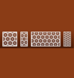 laser cut panels with modern abstract geometric vector image