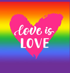 love is love inspirational gay pride poster vector image