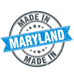 Made in maryland blue round vintage stamp vector