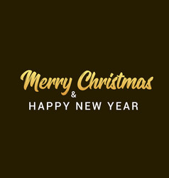 merry christmas background font type poster vector image