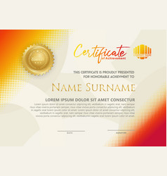 Modern certificate template with diagonal vector