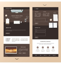 Modern one page website template design with vector