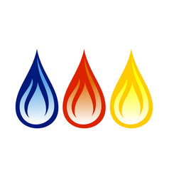 oil gas flame abstract symbol design vector image