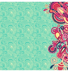 ornate card flower background vector image