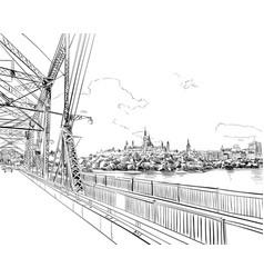ottawa canada hand drawn unusual street sketch vector image