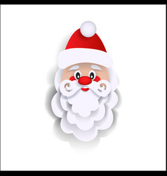 Paper cut santa claus christmas decoration element vector