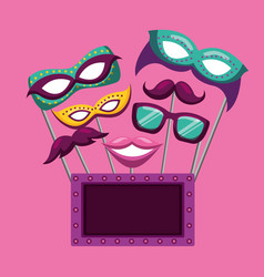 Party mask night vector