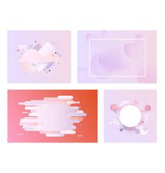 Pastel gradient banner set - modern tender vector
