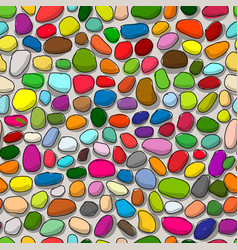 pebble colorful background seamless pattern for vector image