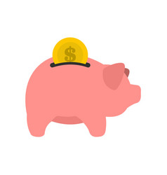 pig money box icon flat style vector image