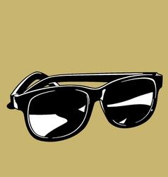 plastic sunglasses black cartoon graphic vector image