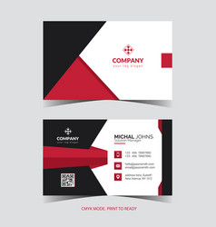 Professional corporate business card vector