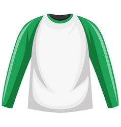 raglan long sleeve t-shirt vector image