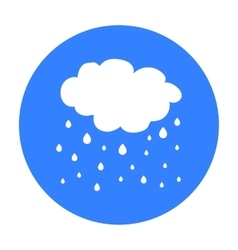 Rain icon in black style isolated on white vector