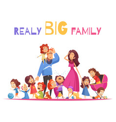 Realy big family vector