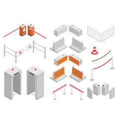 set of elements infrastructure security vector image