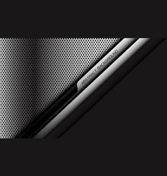 Silver circle mesh black cyber line slash grey vector