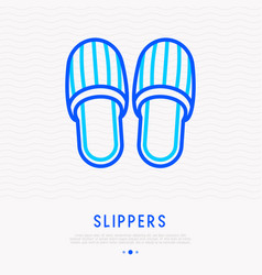slippers thin line icon vector image