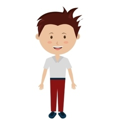 smiling avatar boy graphic vector image