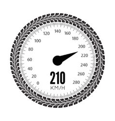Speedometer Styling by tire vector image