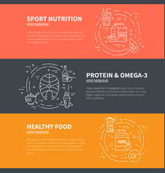 sport nutrition design vector image