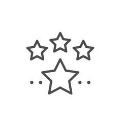 Stars line icon vector