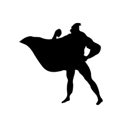 Superhero man silhouette vector