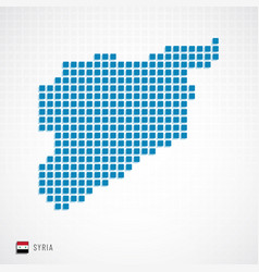 Syria map and flag icon vector
