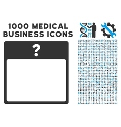 Unknown day calendar page icon with 1000 medical vector