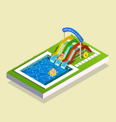 water play park composition vector image