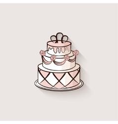 wedding cake design element vector image