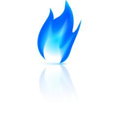 Gas fire icon vector image vector image