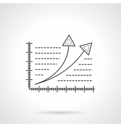 Growth statistics flat line icon vector image