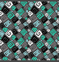 hand drawn artistic seamless pattern with vector image