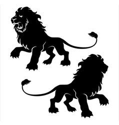 Proud lion vector image