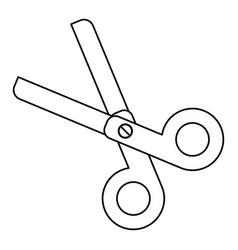 scissors school utensil line vector image