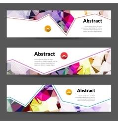Set of horizontal polygonal triangles vector image vector image