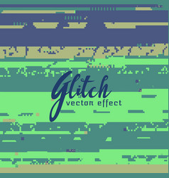 Abstract glitch background for corrupted image vector