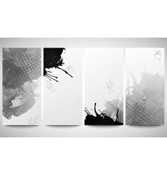 Abstract hand drawn watercolor gray-black vector image