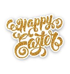 Easter Glitter Design vector image